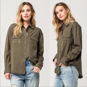 Free People Off Campus Utility shirt